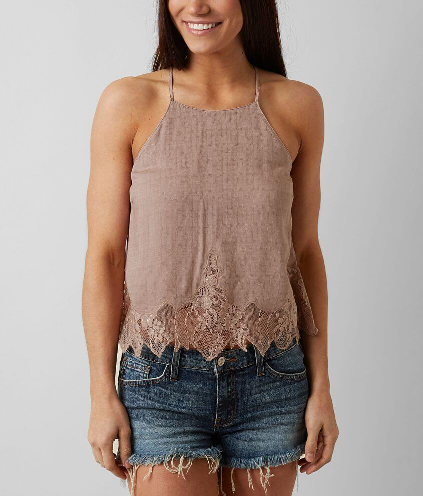 Lush High Neck Tank Top front view