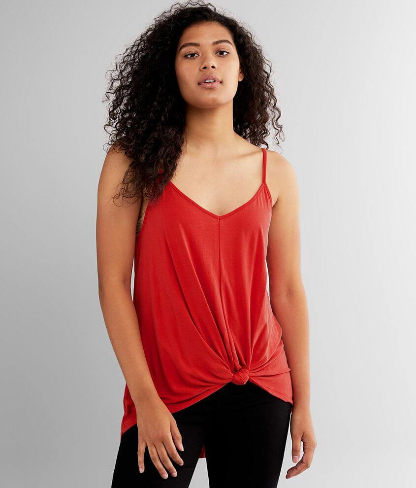 Lush Twist Front Tank Top front view
