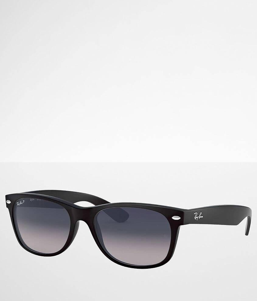 Nylon frame sunglasses Polarized blue/green gradient lenses 100% UV protection Soft shell case included