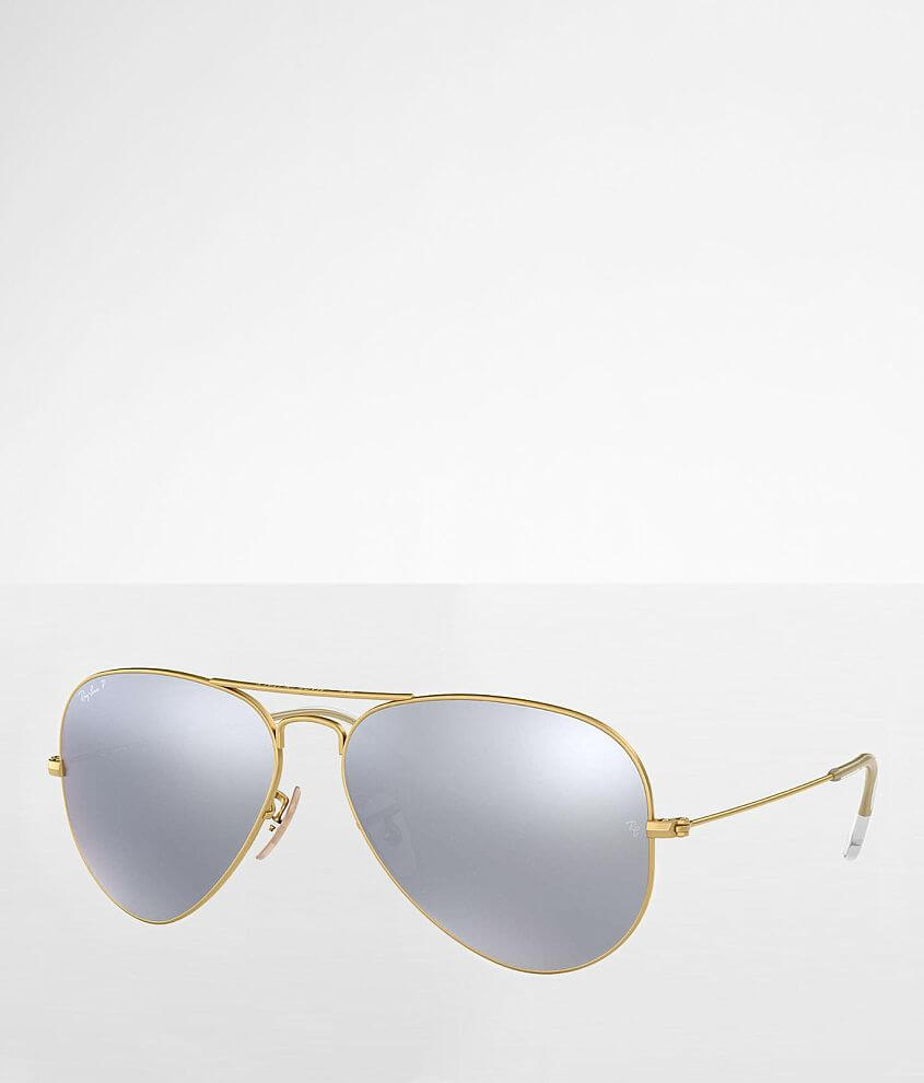 Ray-Ban® Polarized Aviator Sunglasses front view