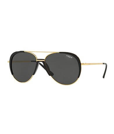 Vogue Eyewear Pieced Rim Aviator Sunglasses