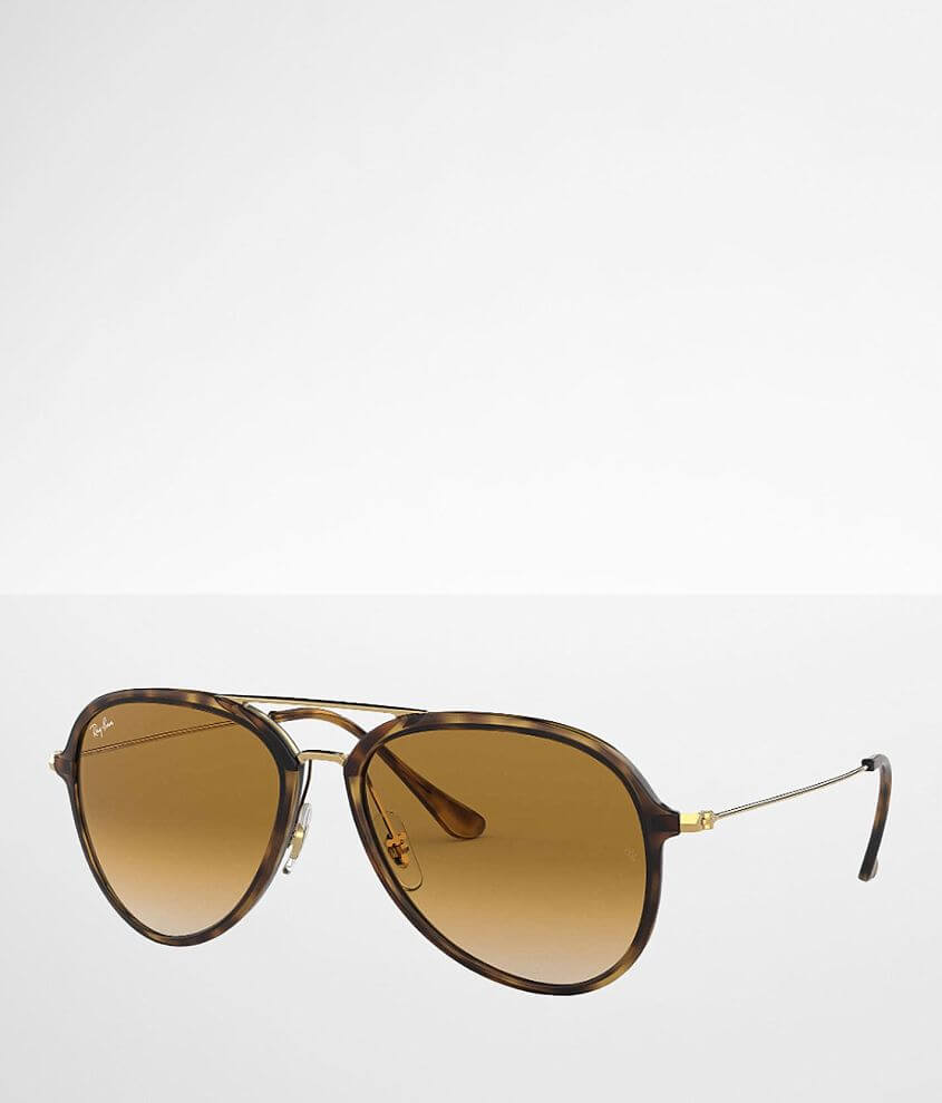 Ray-Ban® Tortoise Aviator Sunglasses front view