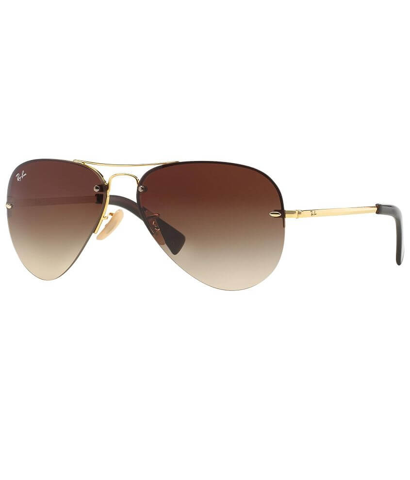 Ray-Ban® Rimless Aviator Sunglasses front view