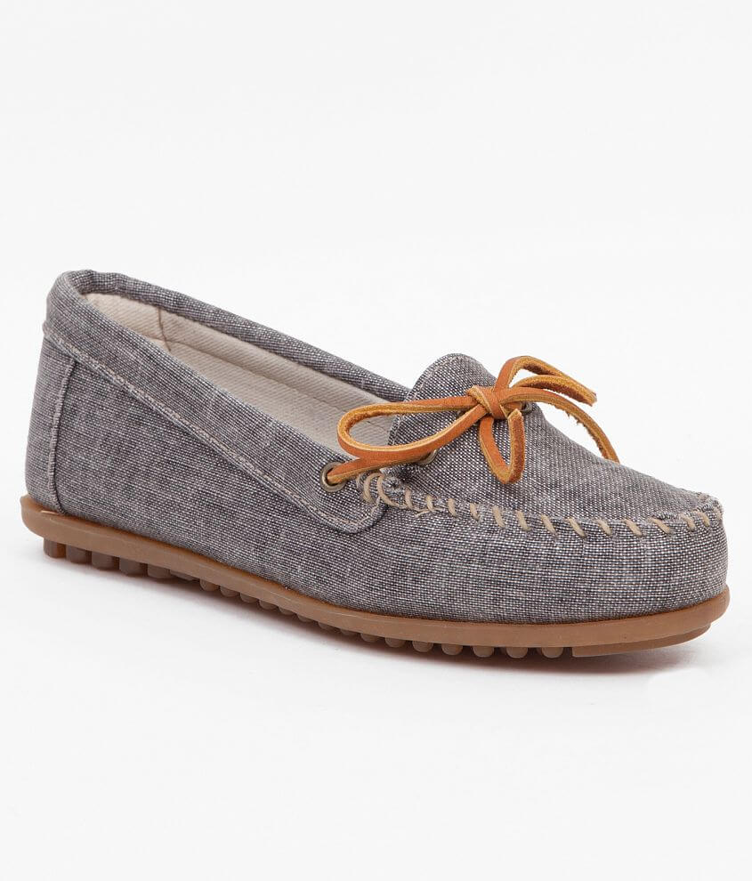 Minnetonka Canvas Moccasin front view