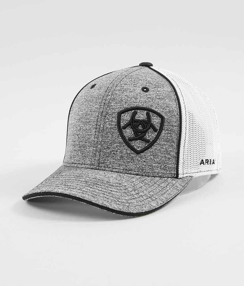... order ariat 110 stretch trucker hat mens hats in white buckle 6f40e  368d8 a7b2df91c953
