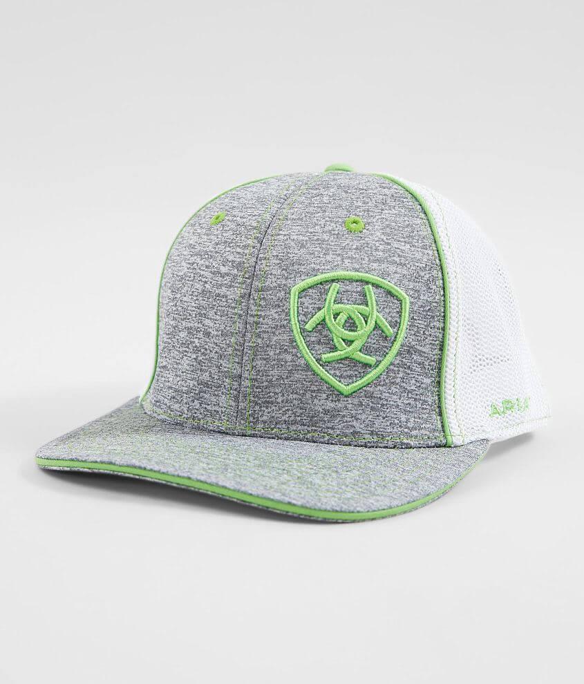 764a0bff34020c Ariat 110 Flexfit Tech Trucker Hat - Men's Hats in Grey   Buckle