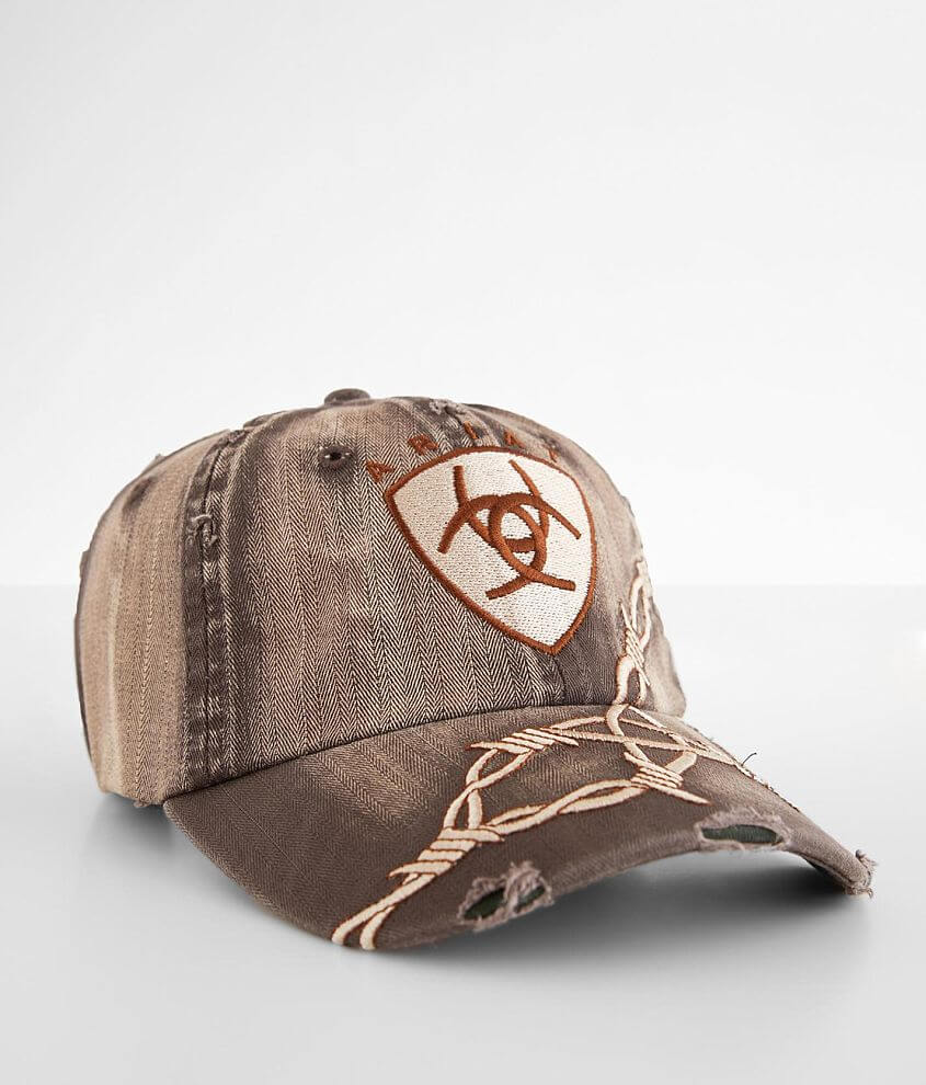 Embroidered hook and latch washed hat Grinding details One size fits most
