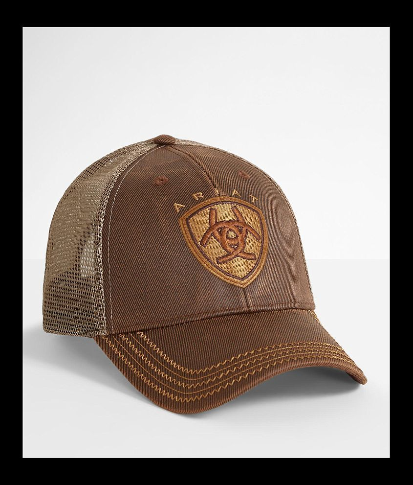 Style 151602/Sku 943687 Embroidered logo hook and latch strap hat One size fits most