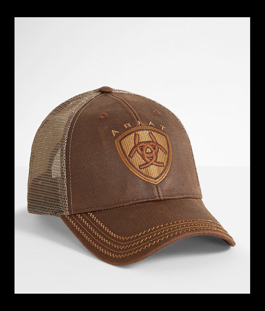 czech ariat oil skin trucker hat mens hats in brown buckle 9fd8f 2234a 2a8353faa2ca