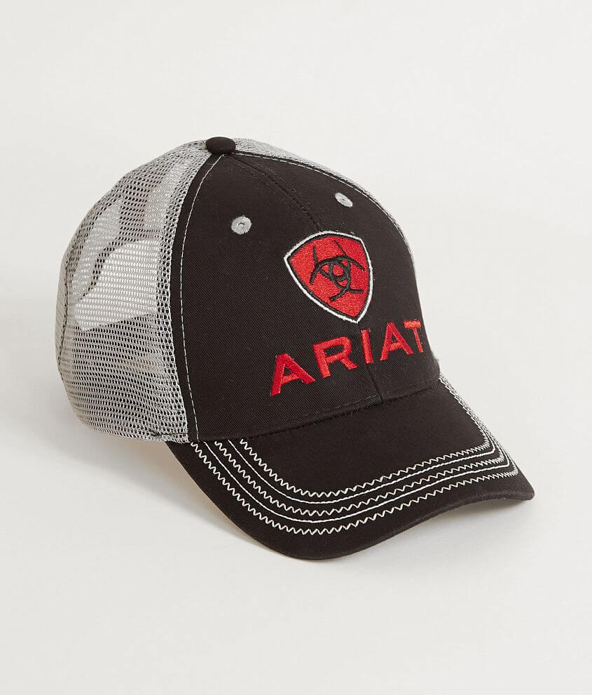 Style 1515866/Sku 943903 Embroidered logo hook and latch strap hat One size fits most