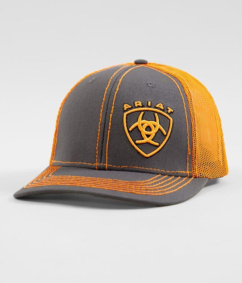 529158dec05a9c Ariat Shield Trucker Hat - Men's Hats in Orange   Buckle