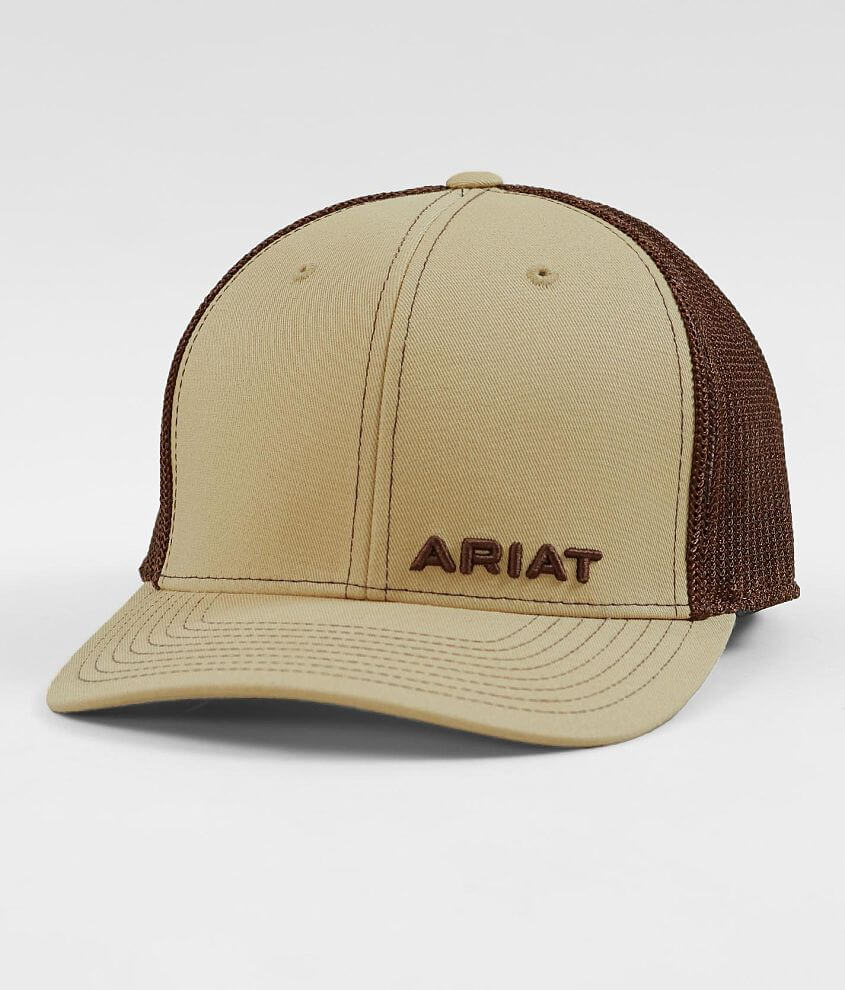 485373c7 Ariat 110 Flexfit Tech Trucker Hat - Men's Hats in Tan | Buckle