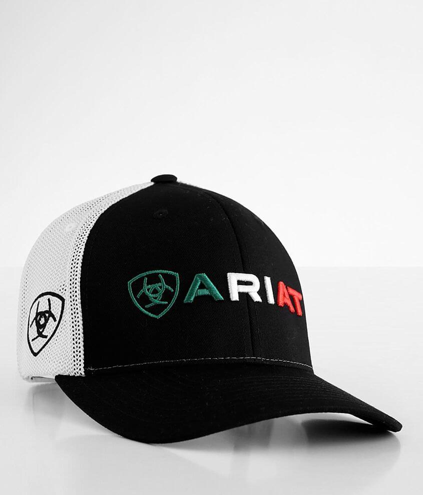 Ariat Mexico Flag 110 Flexfit Trucker Hat front view