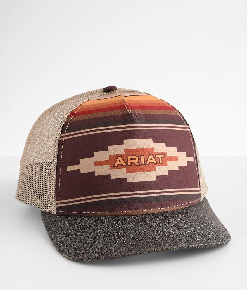 Ariat Striped Baseball Hat front view