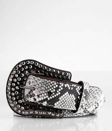 Ariat Snake Print Leather Belt