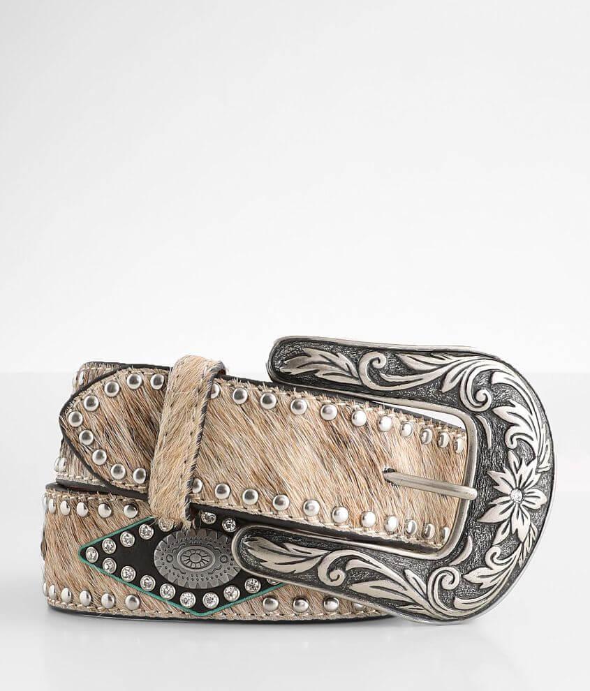 Ariat Glitz Leather Belt front view