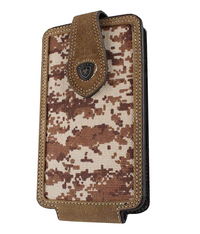 Ariat Digi Camo Leather Cell Phone Holster front view