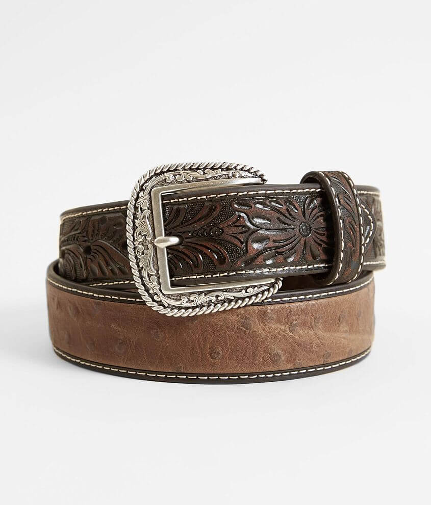 Ariat Embossed Leather Belt front view