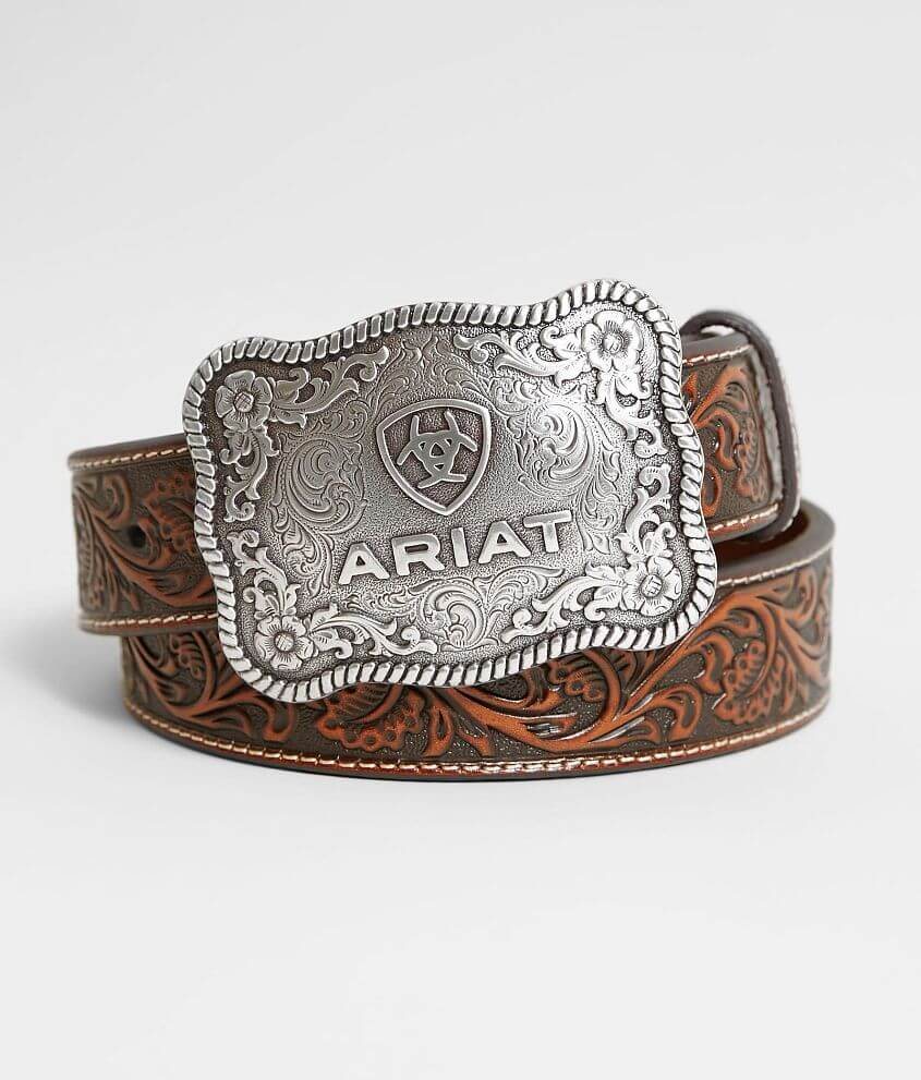 Ariat Leather Western Belt front view