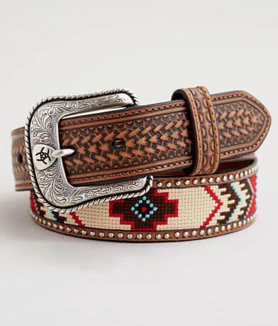 Ariat Studded Southwestern Leather Belt