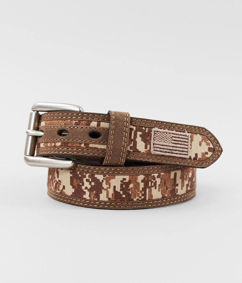 Ariat Digi Camo Leather Belt front view