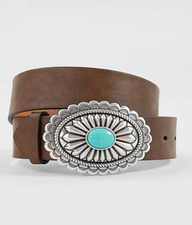 Ariat Turquoise Stone Basic Leather Belt