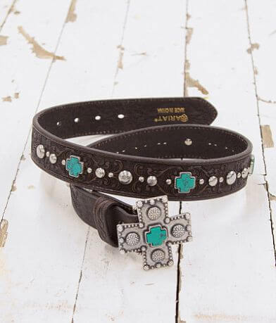 Ariat Turquoise Cross Leather Belt