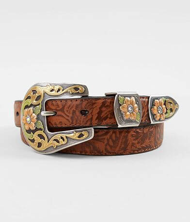 Ariat Embossed Skinny Leather Belt
