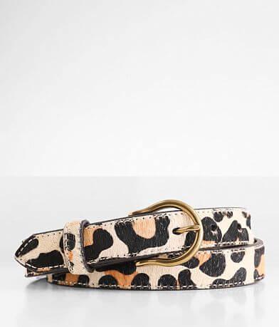 Ariat Leopard Skinny Leather Belt