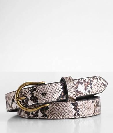 Ariat Metallic Skinny Leather Belt