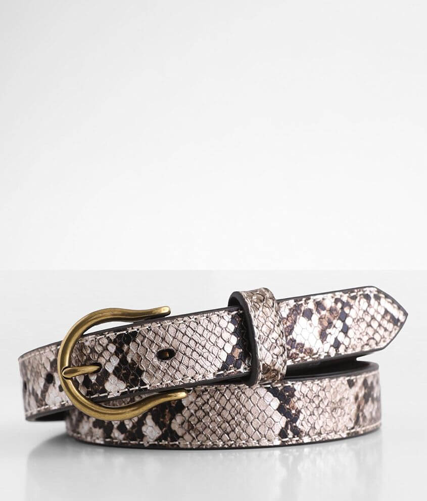 Ariat Metallic Skinny Leather Belt front view