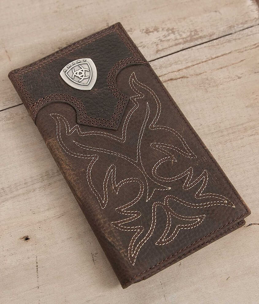 Ariat Western Rodeo Leather Wallet front view