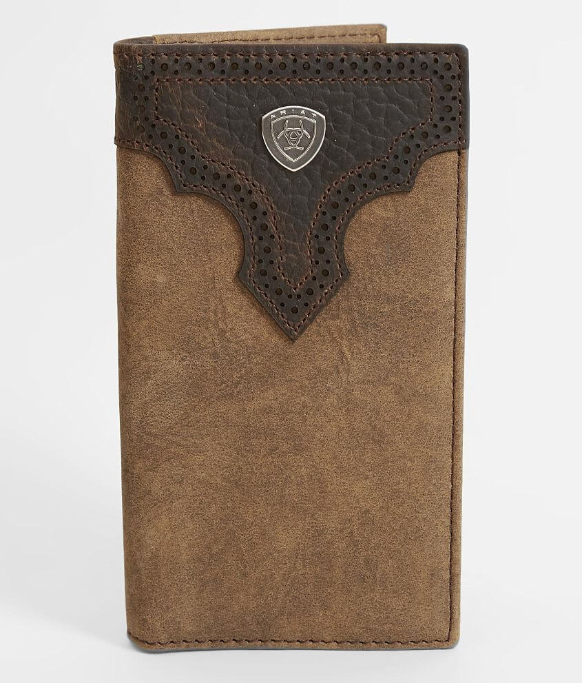Leather bifold wallet Checkbook cover
