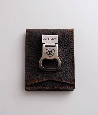 Ariat Bottle Opener Leather Money Clip Wallet