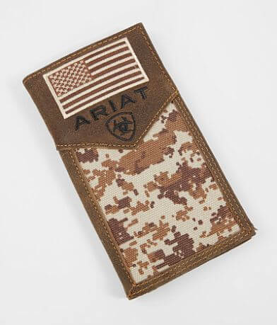 Ariat Patriot Camo Rodeo Leather Wallet