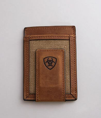 Ariat Magnetic Leather Money Clip Wallet