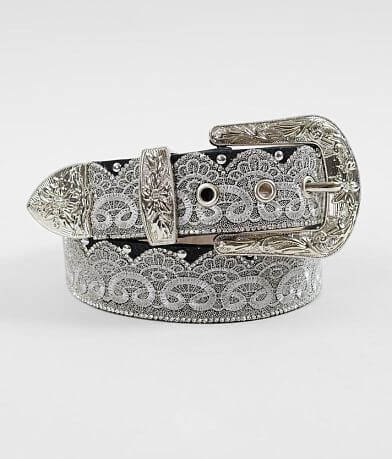 Angel Ranch Embroidered Lace Leather Belt