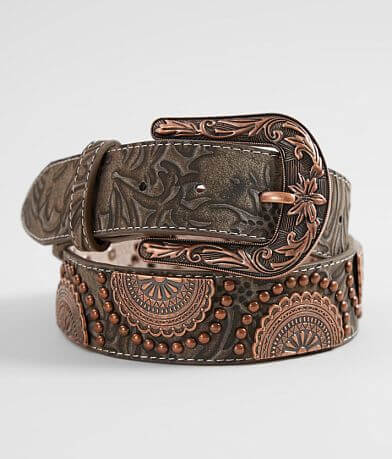 Angel Ranch Tooled Leather Western Belt