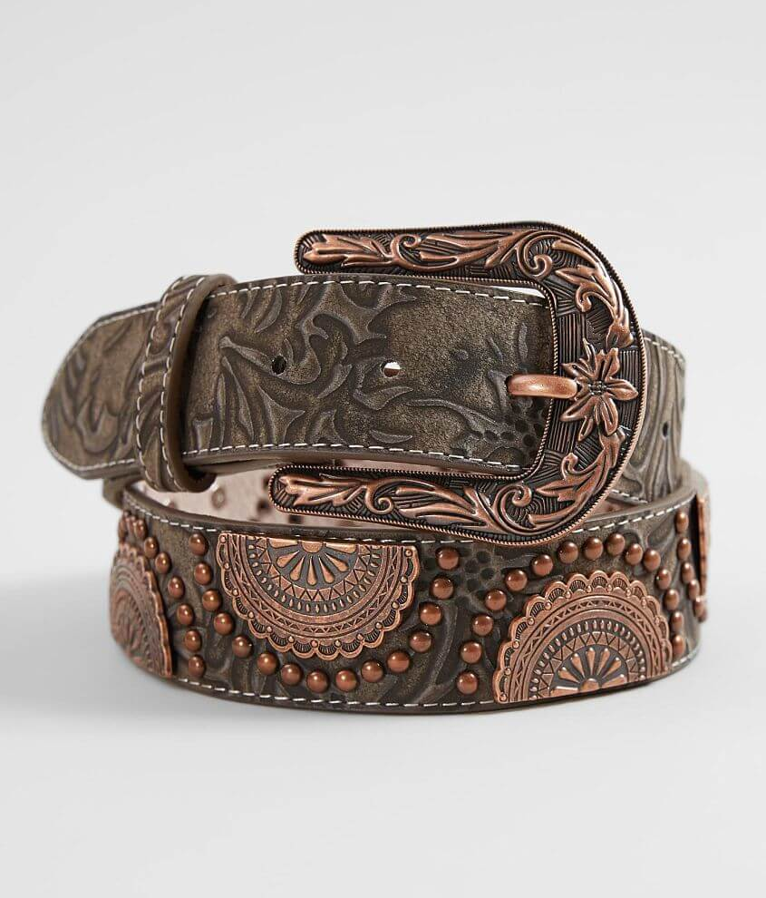 06a9afa21 Angel Ranch Tooled Leather Western Belt - Women's Accessories in ...