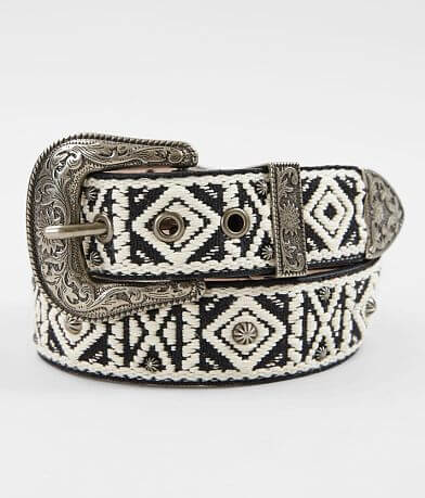 Angel Ranch Weaved Pattern Leather Belt