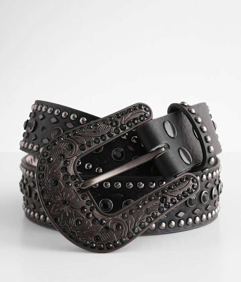 Nocona Glitz Leather Belt front view