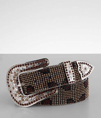 Nocona Leopard Glitz Leather Belt