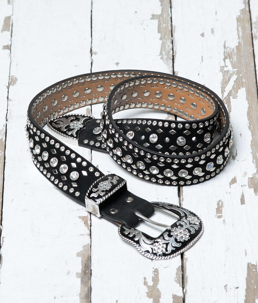 Leather Glitz Belt front view