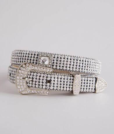 Nocona Rhinestone Glitz Leather Belt