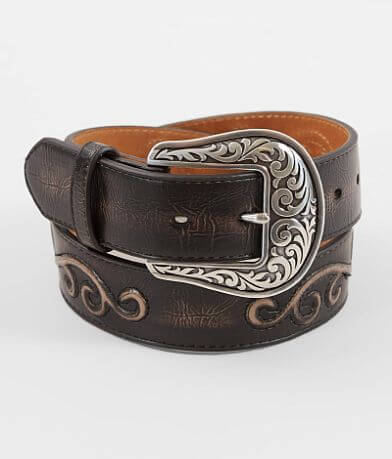 Nocona Embossed Leather Conch Belt