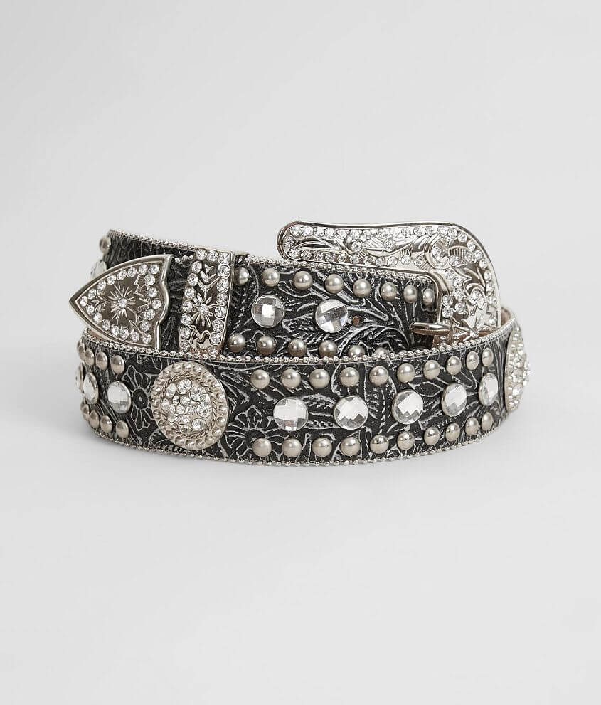 Blazin Roxx Glitz Leather Belt