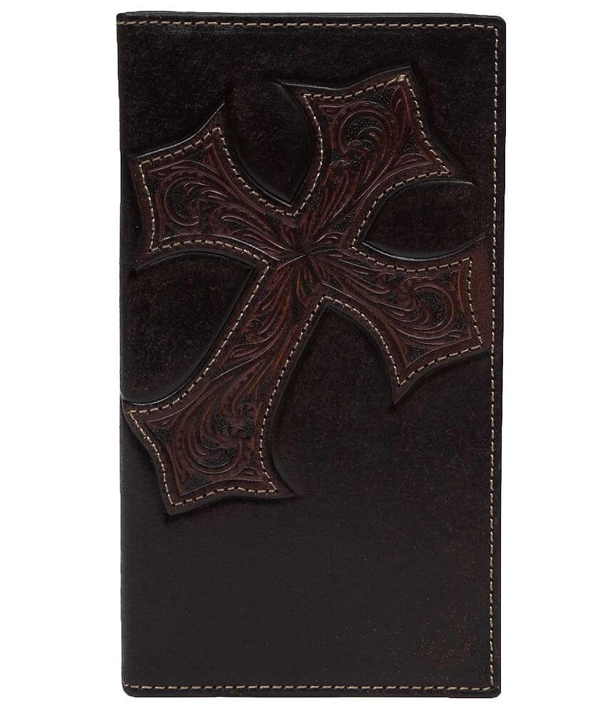 Nocona Rodeo Leather Wallet front view