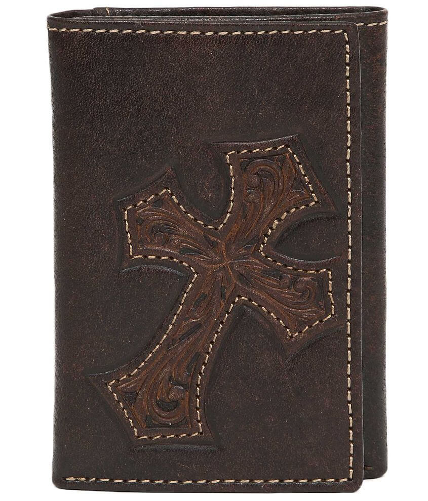 Nocona Cross Leather Wallet front view