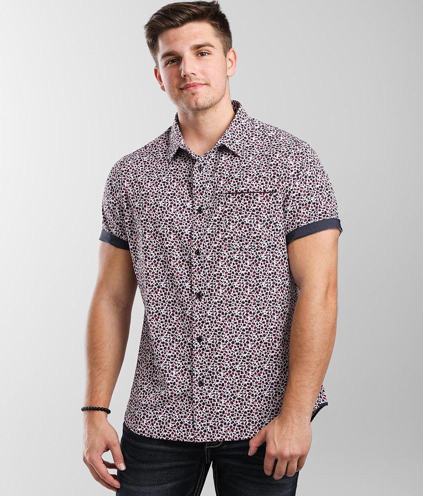7Diamonds Brushstroke Stretch Shirt front view