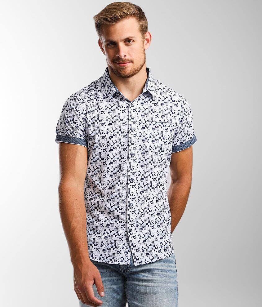 7Diamonds Ultraviolet Stretch Shirt front view